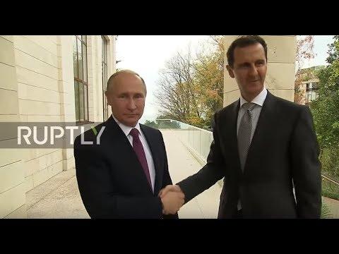 Image result for assad, Putin, photos
