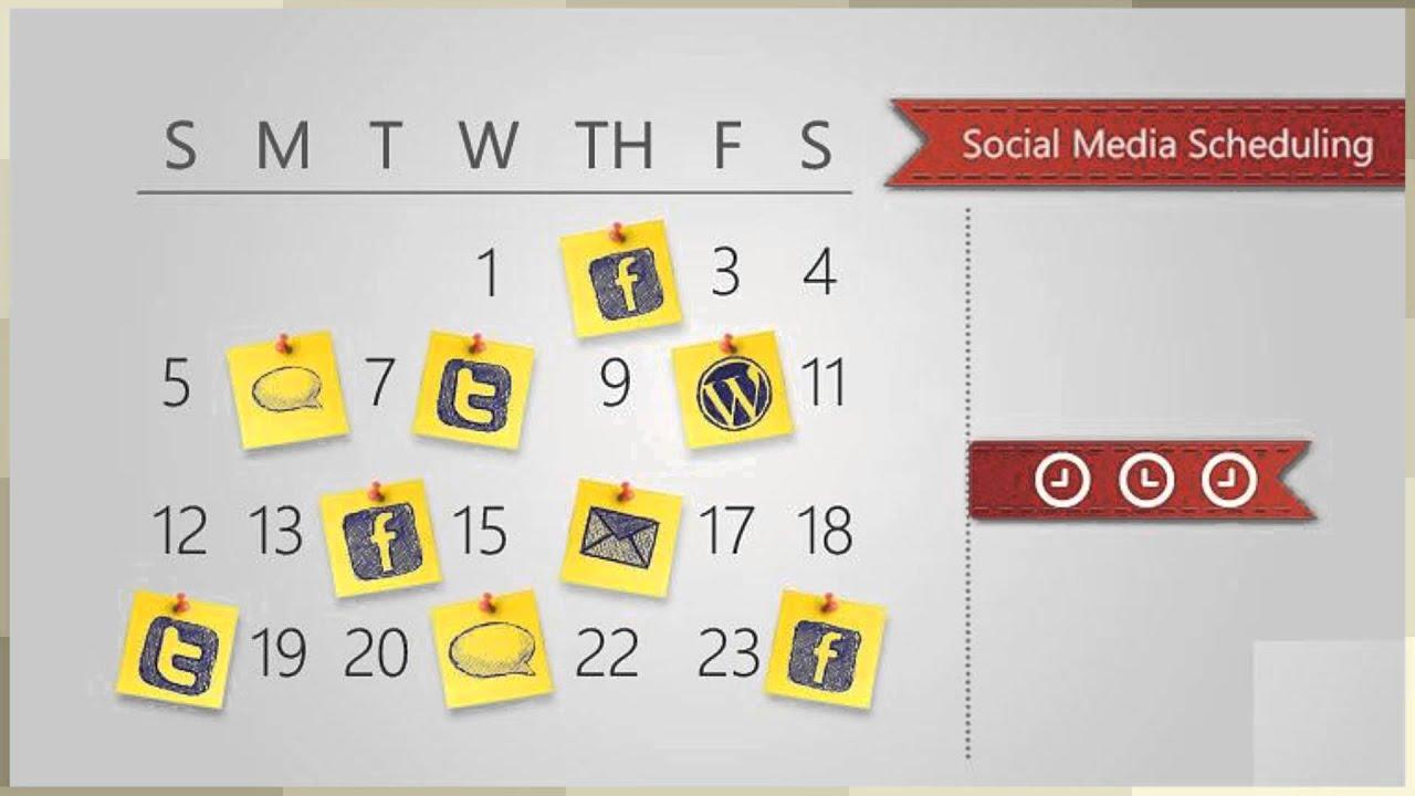 social media schedule