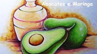Pintando Abacates e Moringa – Pintura no Tecido