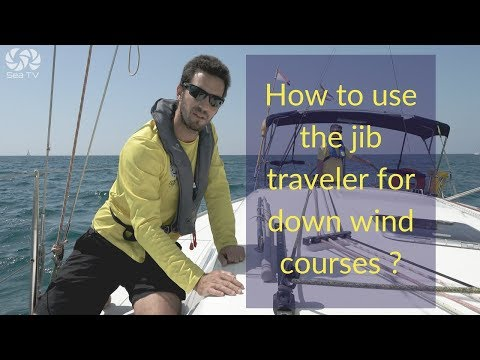 How to use the jib traveler for down wind courses ?