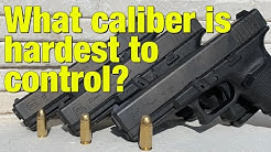 What caliber is harder to control - 9, 40, or 45?