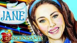 DISNEY DESCENDANTS Learn How to Draw JANE. SPEED DRAWING
