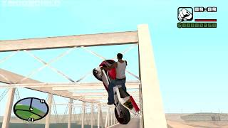 Riding across the entire map on an NRG-500-at the very beginning of the game-GTA San Andreas-video#2