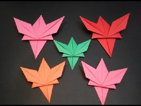 Origami Feuille Dérable En Papier Youtube