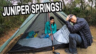 Tent Camping at Junİper Springs in Florida | Ocala National Forest