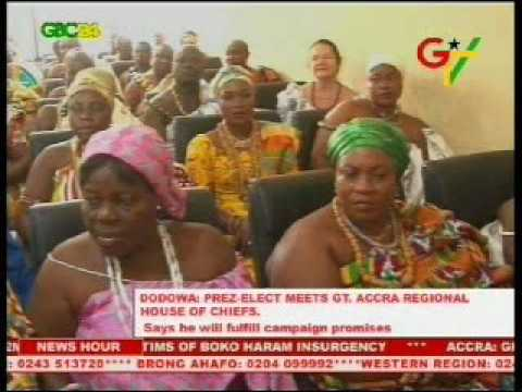 Prez-elect Meets Greater Accra Regional House Of Chiefs