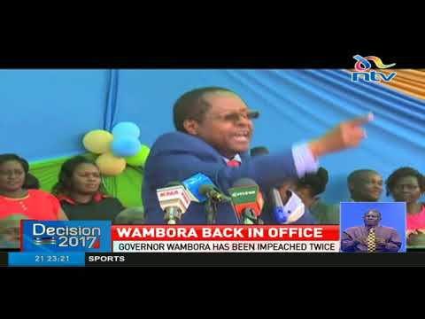 Embu governor Martin Wambora sworn in for second term