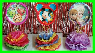 Centro de Mesas para fiesta de niños / Shopkins, Mickey Mouse, and Frozen DIY Party Centerpieces