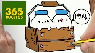 COMO DIBUJAR BOTELLAS DE LECHE KAWAII PASO A PASO - Dibujos kawaii faciles - How to draw a MILK