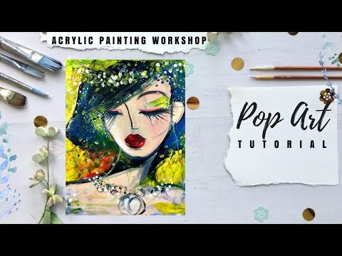 How to Paint Pop Art With Acrylics - Unique Approach - Soulful Girl