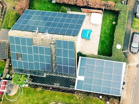 PV-Anlage der Superlative in Deutschland von Sunpower auf einem Einfamilienhaus