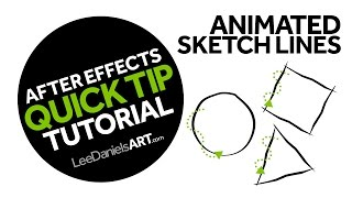 After Effects Tutorial | QUICK TIP | Animated Sketch Lines