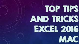 Top Basic Tips and Tricks Excel 2016 you MUST know!