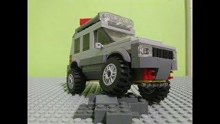 41 Как сделать из лего джип  Внедорожник Лего для перевозки водных мотоциклов   Лего 60058 обзор