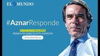 Entrevista a José María Aznar en exclusiva en EL MUNDO