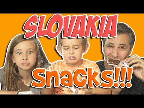 Snacks!  Josh Darnit Family food review Slovakia Edition