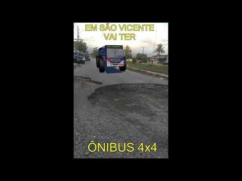 Novo ônibus que vai circular em São Vicente-SP