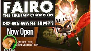 SUMMONERS WAR : Fairo the Fire Imp Champion - Do we want him?