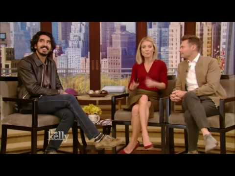 Dev Patel (Lion interview Live With Kelly 11/18/2016 co host Ryan Seacrest