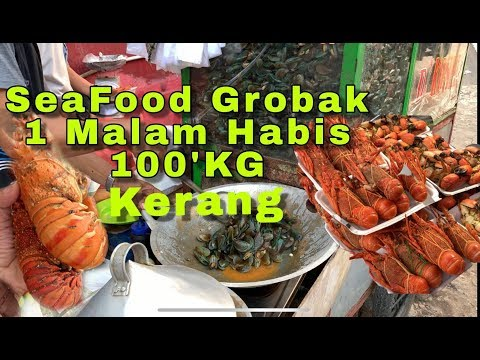 Seafood Grobak De Kosim Omset juta'an / kepiting , lobster kerang