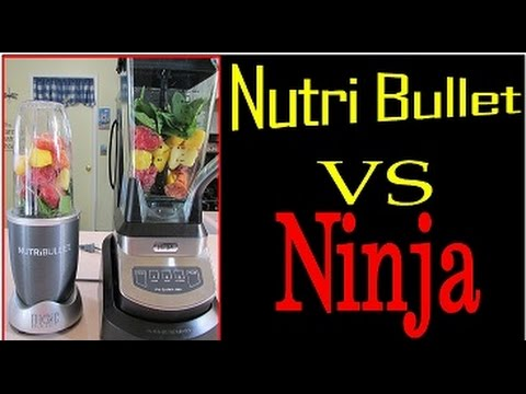 Nutribullet Vs Slow Juicer : NutriBullet versus Ninja - YouTube