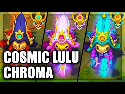 All Cosmic Enchantress Lulu Chroma Skins Spotlight (League of Legends)