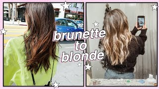 GO BLONDE WITH ME ☆ brunette to blonde hair transformation