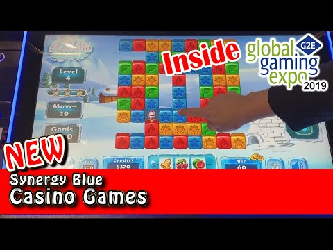 Preview Of Synergy Blue's NEW Casino Games At G2E - Arcade-style Games! - Inside The Casino