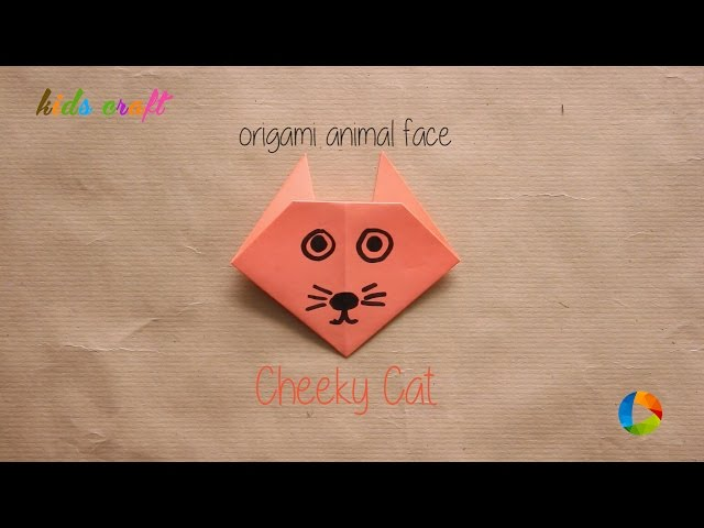 DIY: Origami Animal Faces - Cheeky Cat | Art All The Way