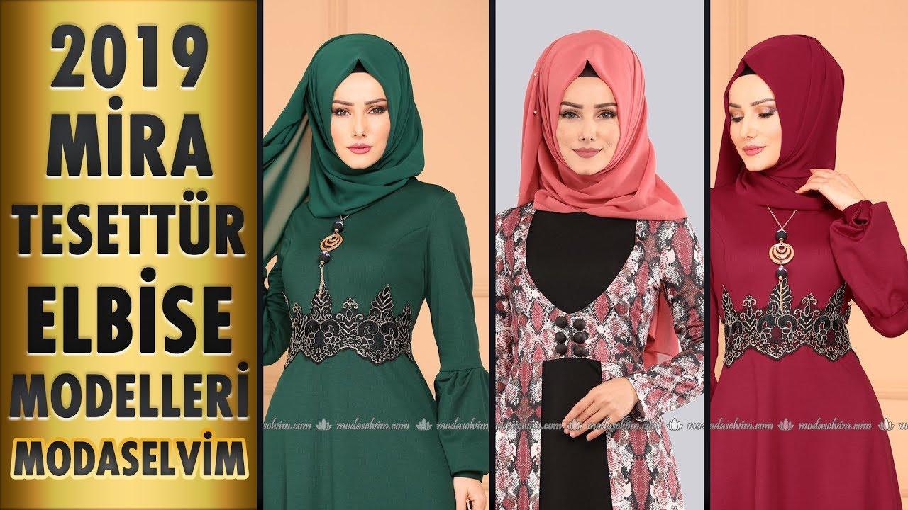 d0d9cd72d3b82 ModaSelvim Mira Tesettür Elbise Modelleri 2019 | Hijab Dress Models -  Modanzi Tesettür
