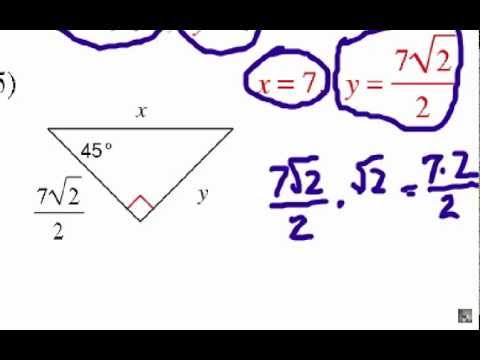 How to Solve Special Right Triangles: Problem Set #1 - YouTube