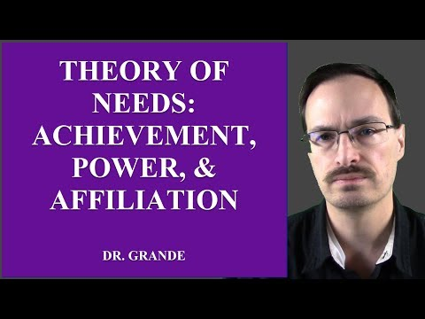 What Is The Theory Of Needs (Achievement, Power, Affiliation)?