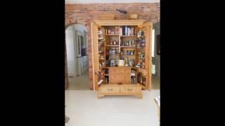 Gambar cover free standing kitchen pantry furniture