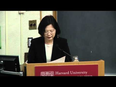 "Tsai Ing-wen, ""Taiwan: Policy Challenges, Choices, and Leadership in the Next Decade"" -- Lecture"