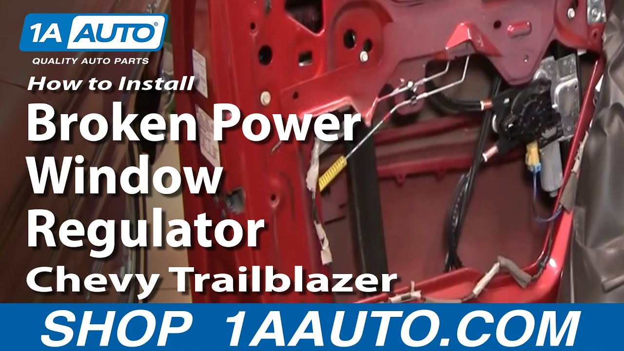 how to install replace broken power window regulator chevy trailblazer gmc envoy 02 09 1aauto com [ 1280 x 720 Pixel ]