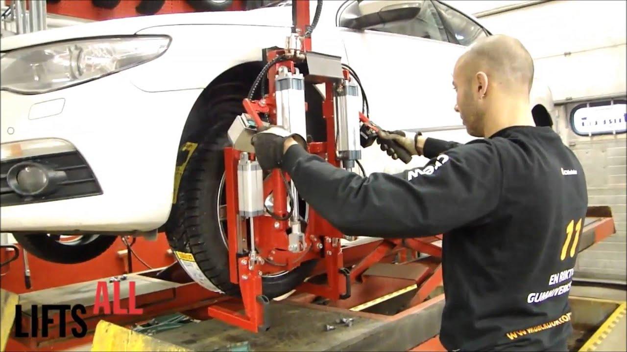 Elevador de neumáticos para talleres de reparación de vehículos