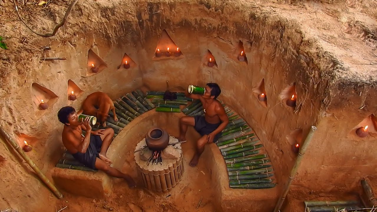 Building Underground Bamboo House By Ancient Skill