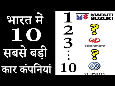 10 Car Manufacturing Companies in India [In Hindi]