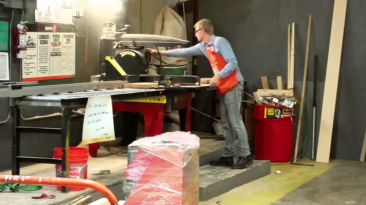 Home Depot Cutting Wood