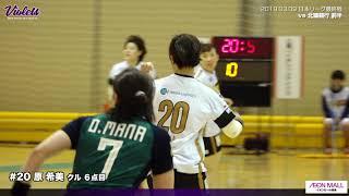 MVI vs 北國銀行 前半ゴールシーンハイライト 2019.03.09 ☆第43回日本リーグ最終戦