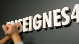 tuto   Fixer ses lettres relief PVC 19 mm pour enseignes