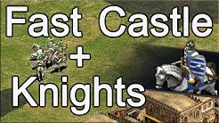 AoE2 Build Order | Fast Castle into Knights!