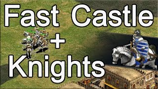 AoE2 Build Order   Fast Castle into Knights!