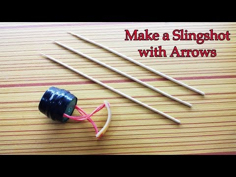 How to Make Slingshot with Arrow for Games | Dutch Style Creativity