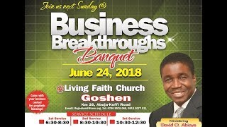 Business Breakthroughs Banquet ( 1st Service ) June 24, 2018