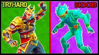 10 MOST TRYHARD LEGENDARY SKINS In FORTNITE! (You Always Die To These!)