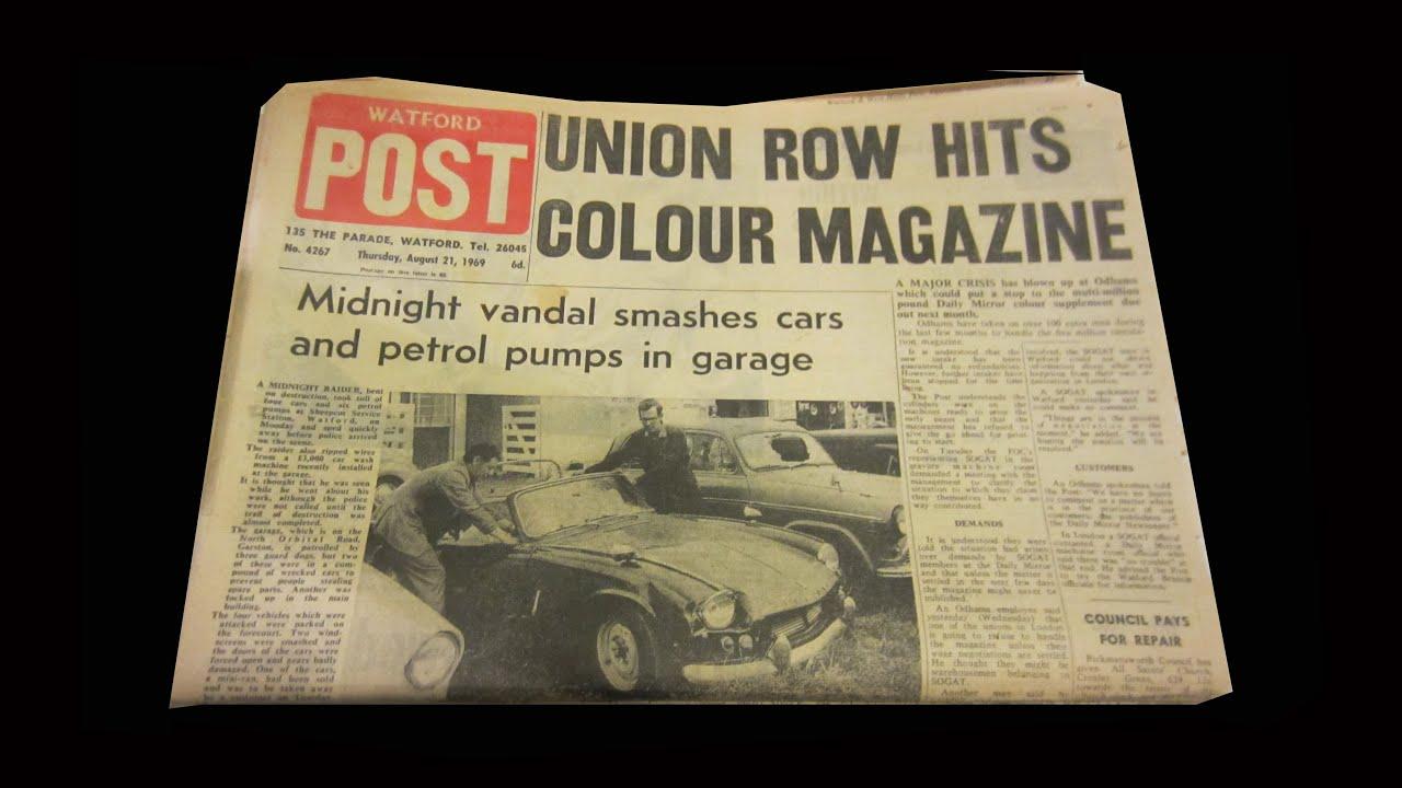 The Last Post 1/2 - Watford Post newspaper journalists Christmas 1968