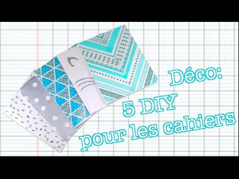 Déco: 5 DIY pour les cahiers 📚 🎨