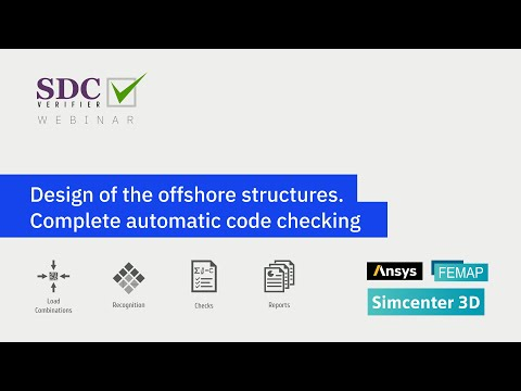 Design of the offshore structures  Complete automatic code checking Beams, Joints, Plates