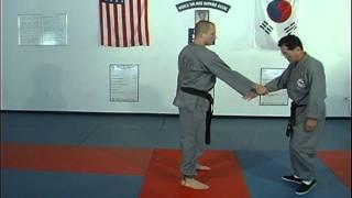 Hapkido Cross Hand Wrist Grab Techniques 5 thru 8 by Ji Han Jae